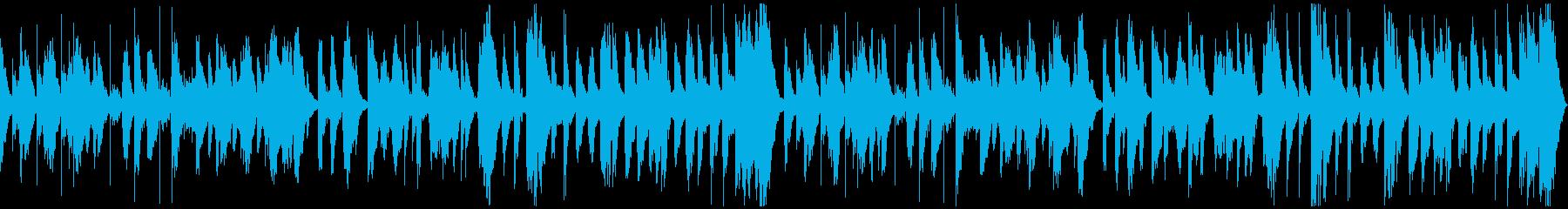 アニメ風コミカル、のほほんとしたBGMの再生済みの波形