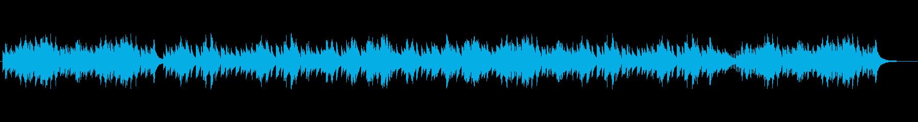 可愛らしくアップテンポなオルゴール曲の再生済みの波形