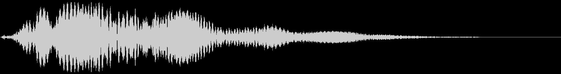 キイィイーン(鈴虫、金属が鳴る音)の未再生の波形