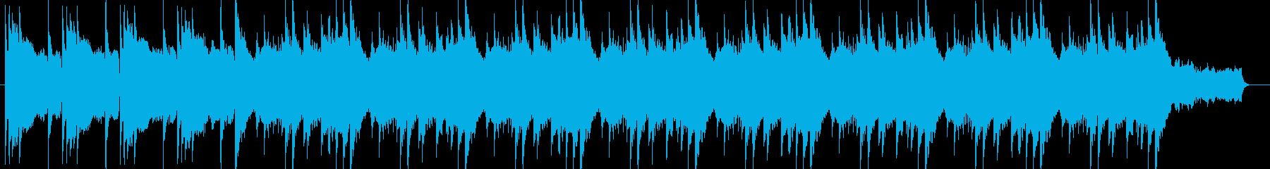 ピアノとバイオリンによるゆったりした曲の再生済みの波形