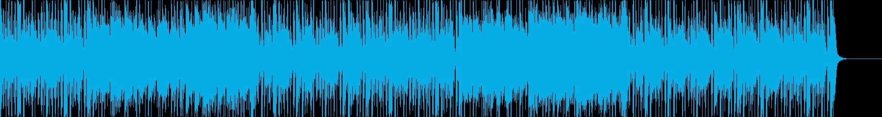 キューバ、カリブ系のまったりBGMの再生済みの波形