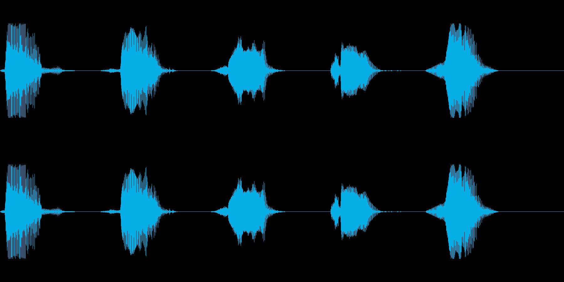 カウント 54321 (英語・平常心の再生済みの波形