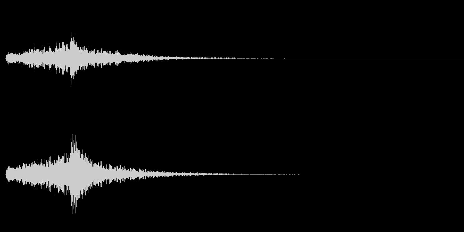 日本らしいアプローチ・和風キャラの登場音の未再生の波形