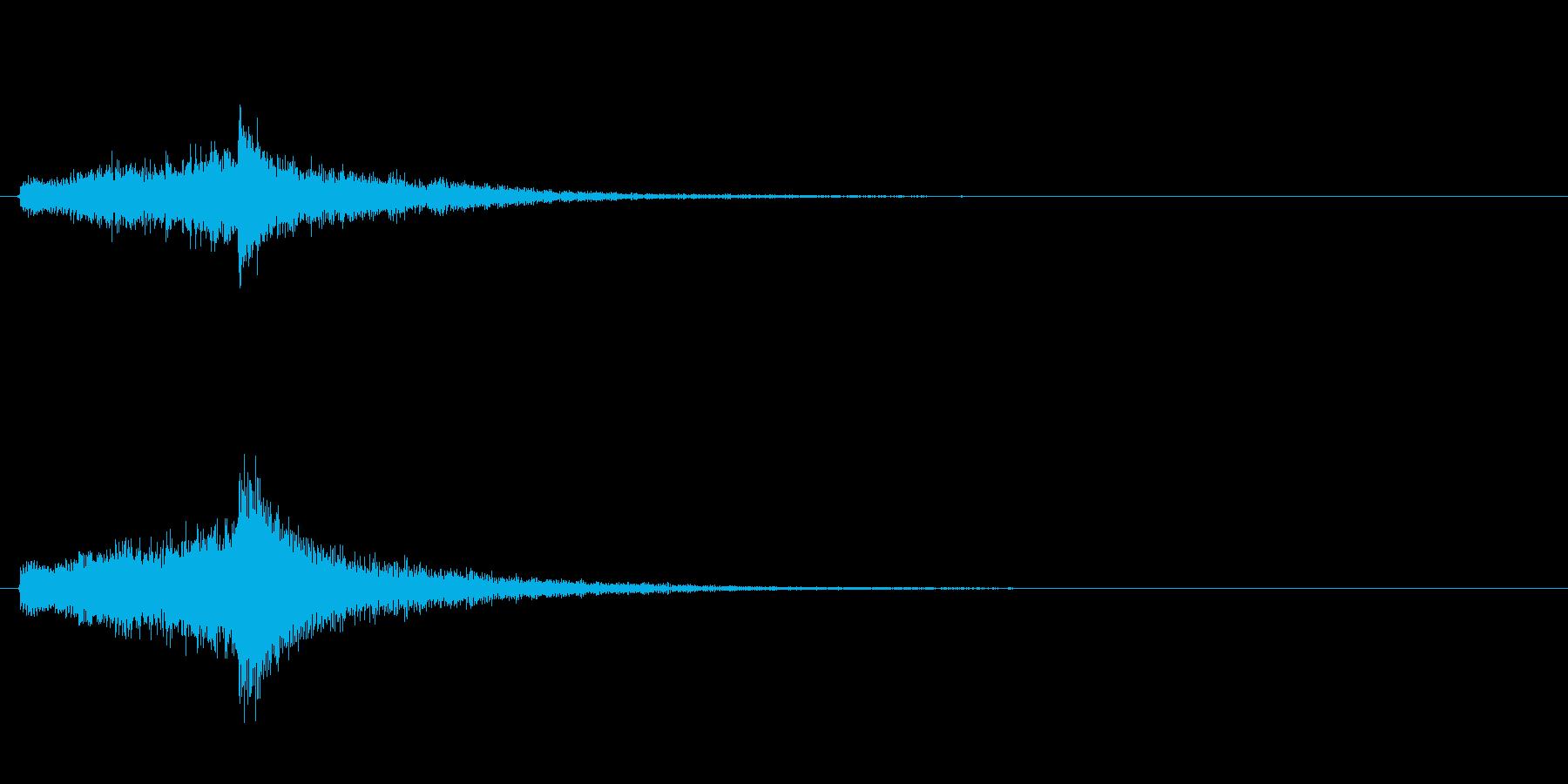 日本らしいアプローチ・和風キャラの登場音の再生済みの波形