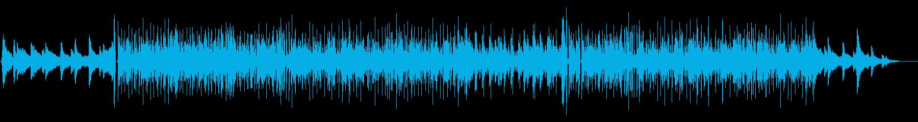 ミドルテンポで軽快なソウル調の曲の再生済みの波形