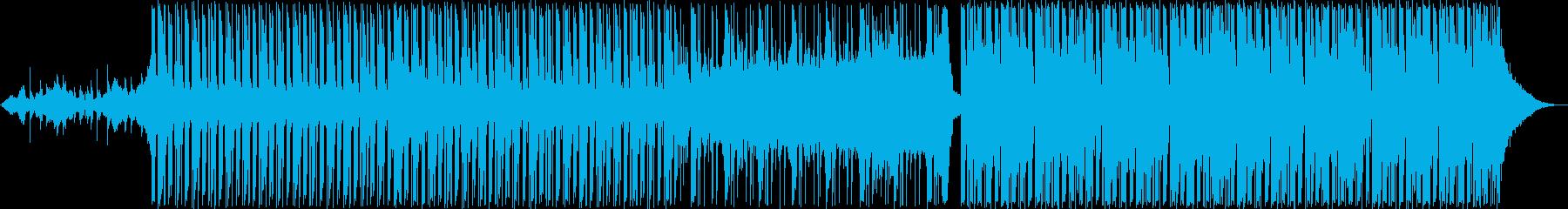 リラックス感のあるトロピカルハウスの再生済みの波形