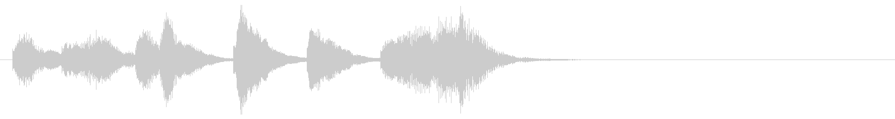 のほほんジングル001_コミカルの未再生の波形
