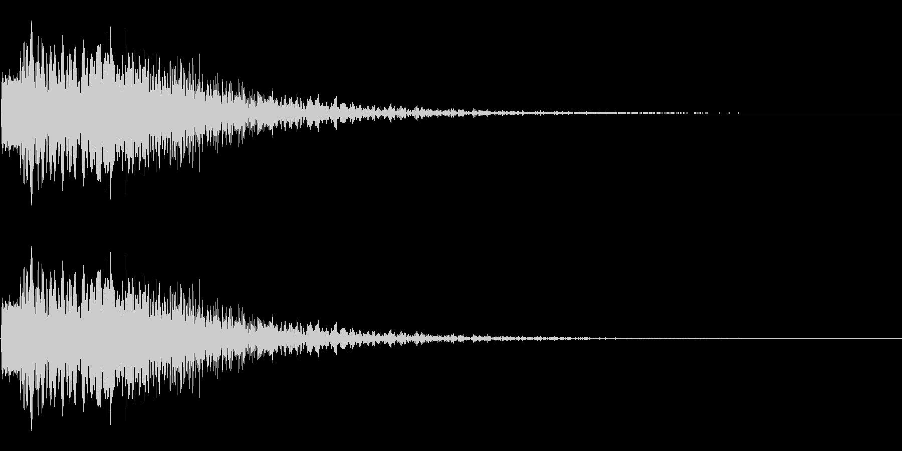 斬撃音 ビュオンという効果音の未再生の波形