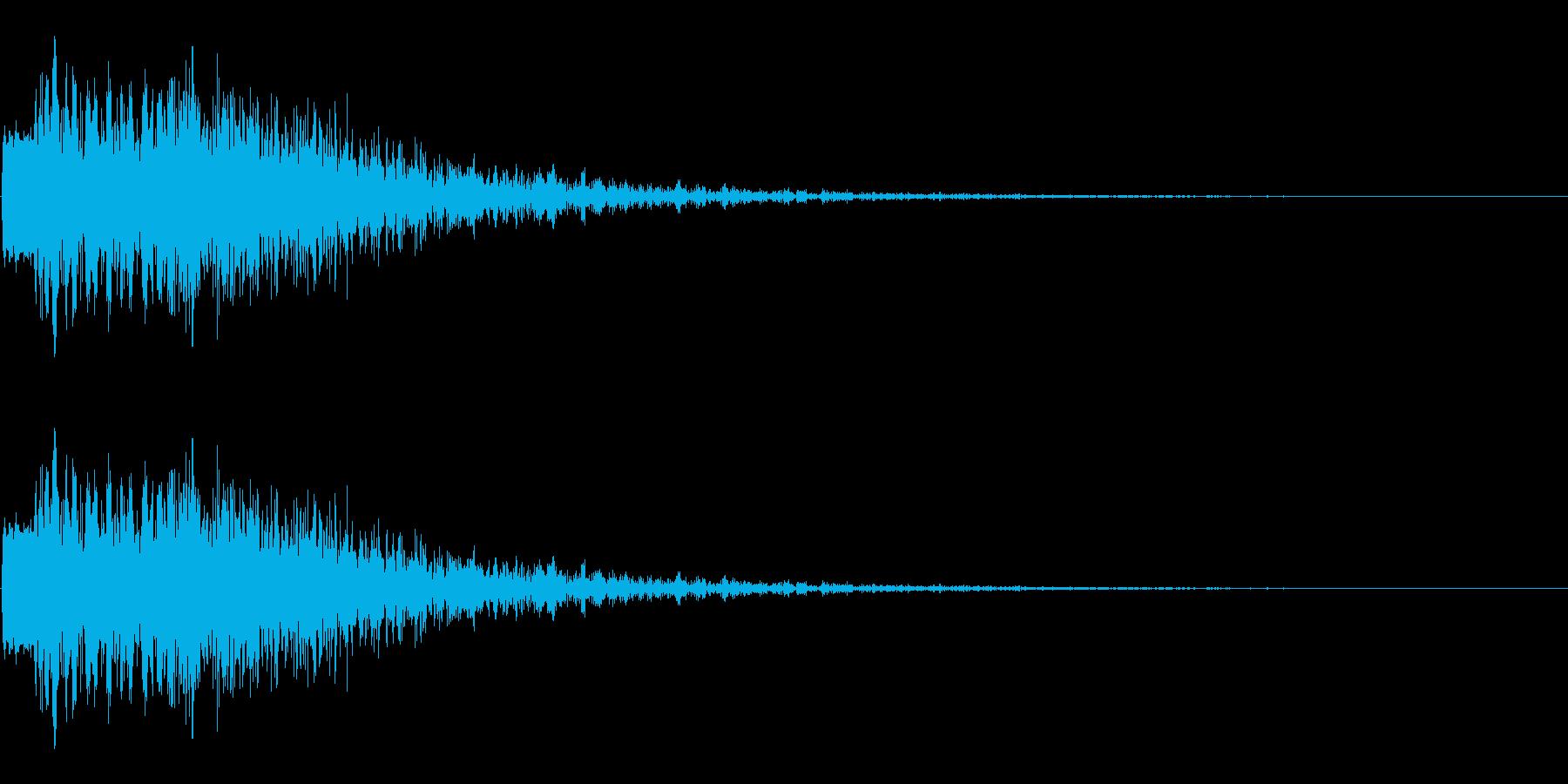 斬撃音 ビュオンという効果音の再生済みの波形