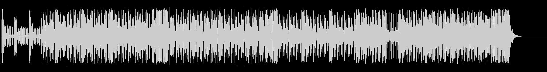 疾走感のあるエネルギッシュなテクノBGMの未再生の波形