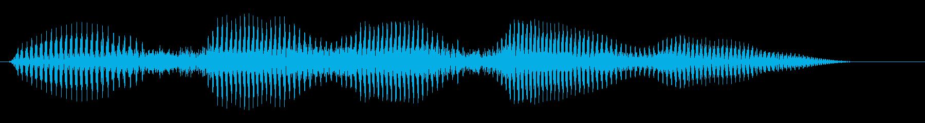 イヒヒヒヒの再生済みの波形