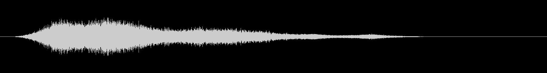 シャープシンフォニックロゴの未再生の波形