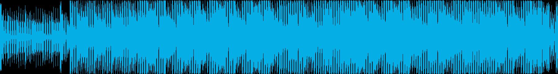 エレクトロでポップなBGMの再生済みの波形