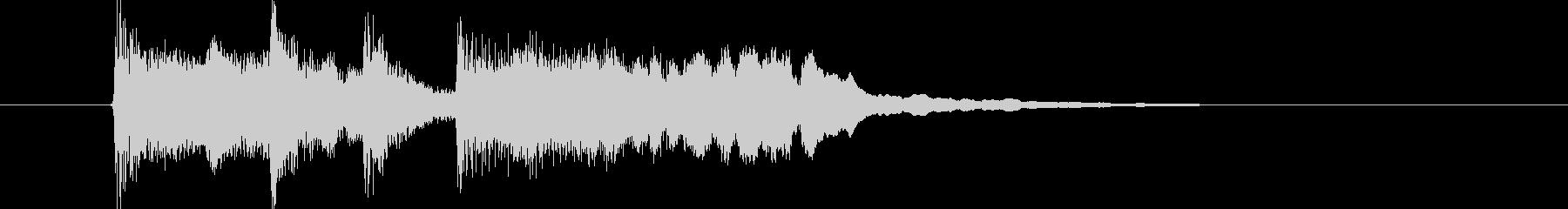 明るく優しいシンセサウンド短めジングルの未再生の波形
