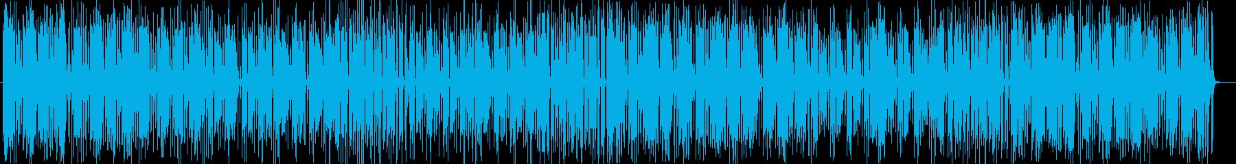 南国の陽気なシンセサイザーサウンドの再生済みの波形