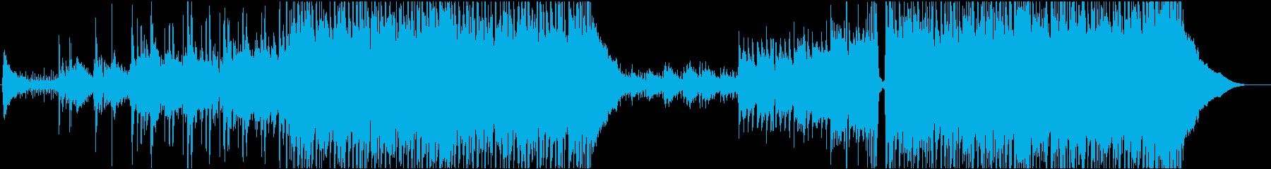 ポップロックでハッピーな曲の再生済みの波形