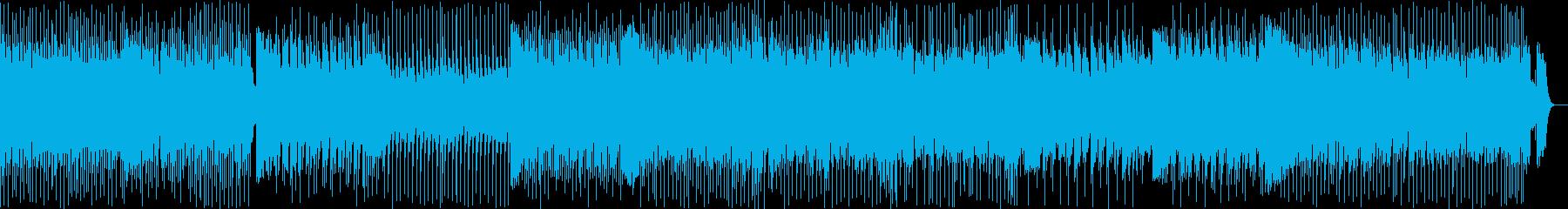 ワクワクドキドキが止まらないテクノポップの再生済みの波形