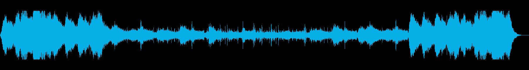 ドローン映像、ヨガや瞑想などに。自然の曲の再生済みの波形