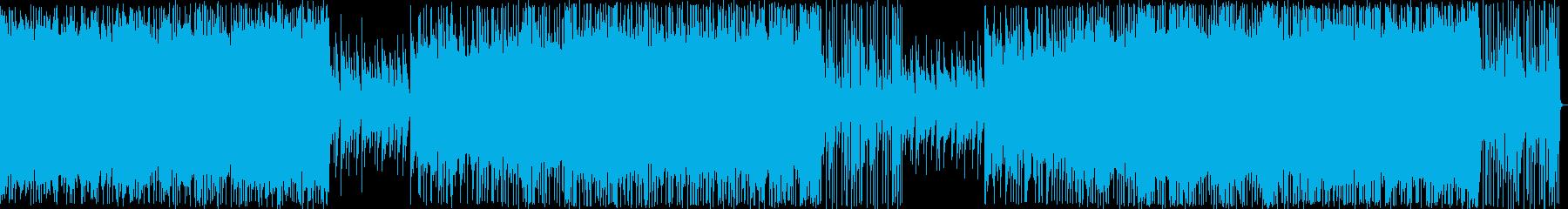 ジワジワ緊張感が高まるバトル風BGMの再生済みの波形