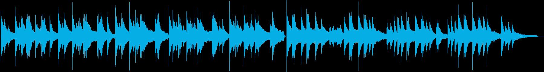 カセットテープを思いだすピアノの調べの再生済みの波形