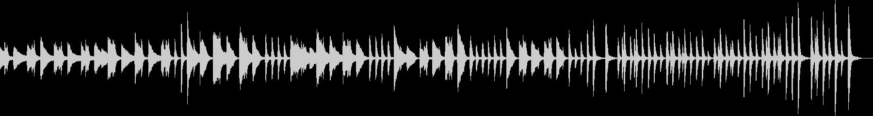 ルンルンなピアノBGMの未再生の波形