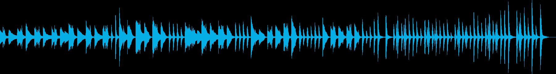 ルンルンなピアノBGMの再生済みの波形