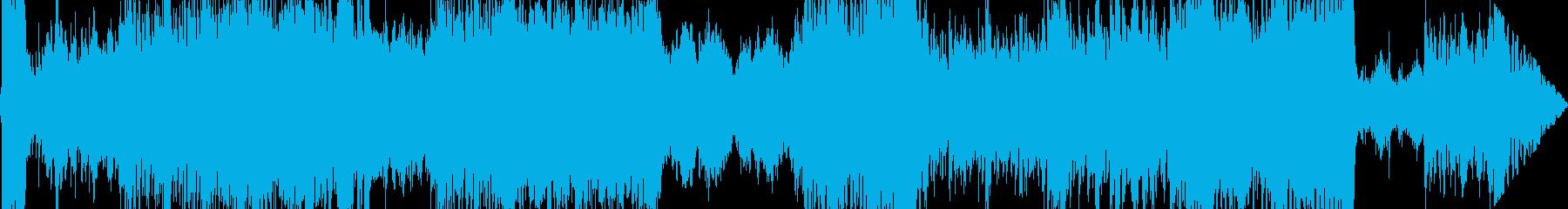 重厚感とダイナミクスのあるRPG戦闘曲の再生済みの波形