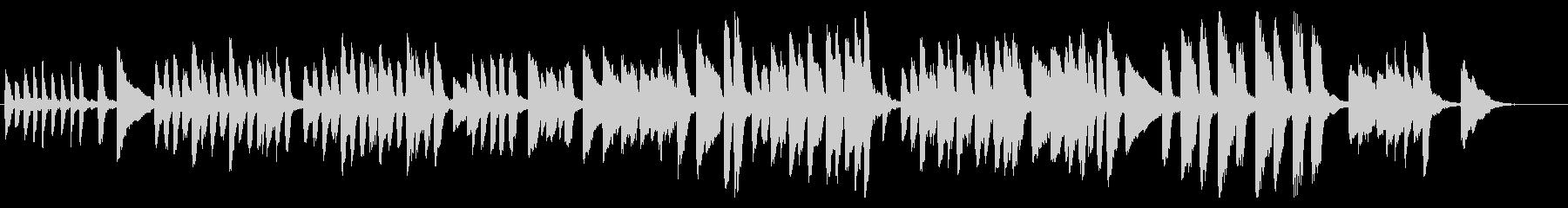 短くてかわいいピアノ曲の未再生の波形