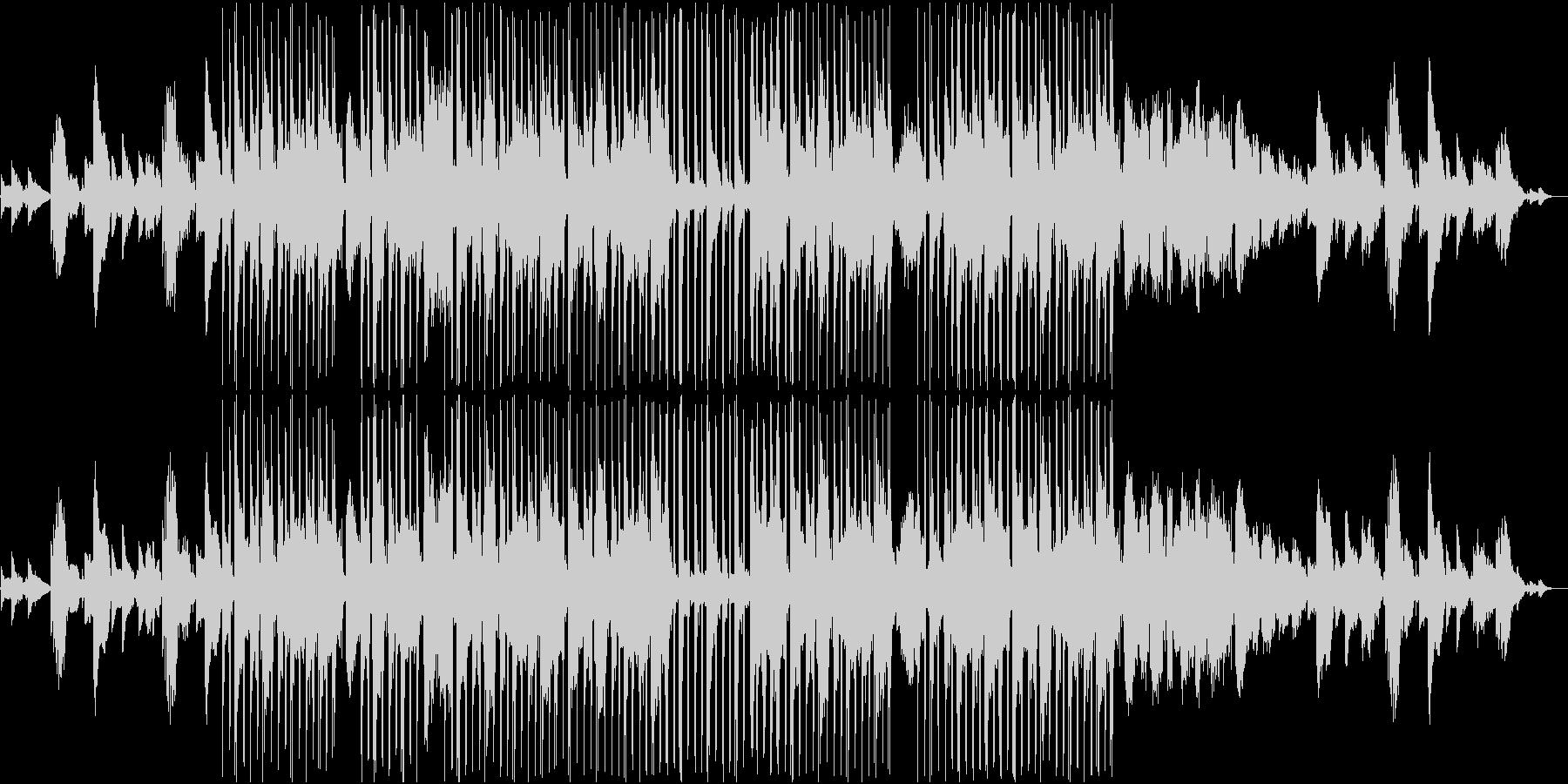 エレキギターのメロディが切ない曲の未再生の波形
