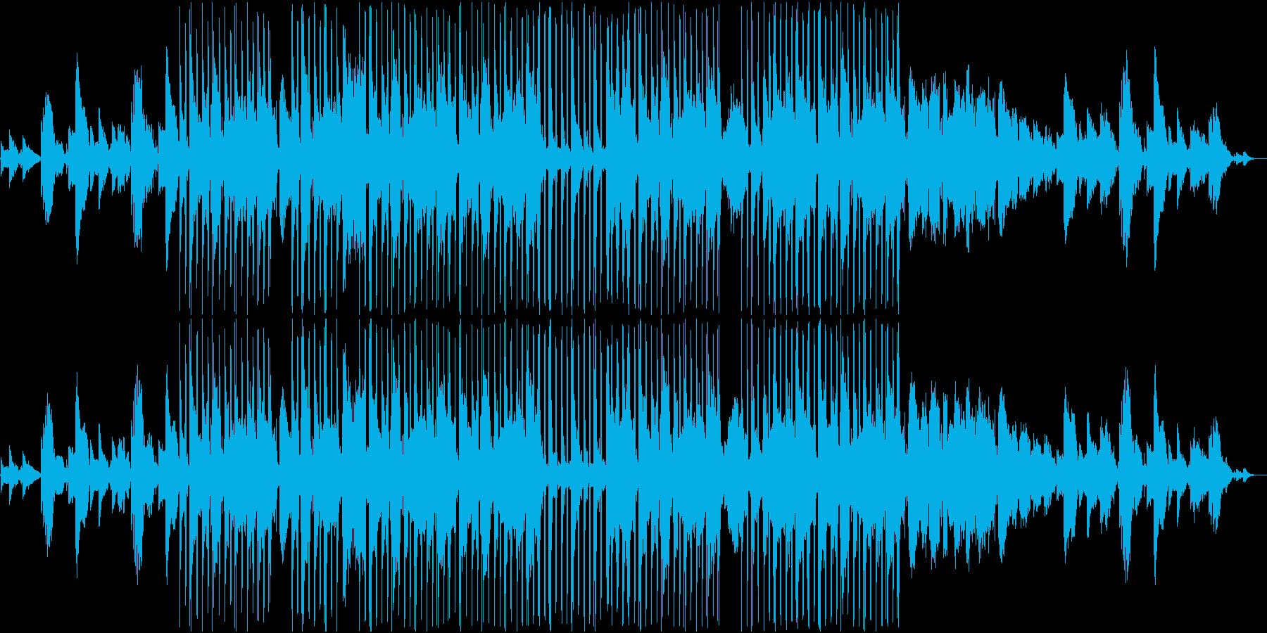 エレキギターのメロディが切ない曲の再生済みの波形