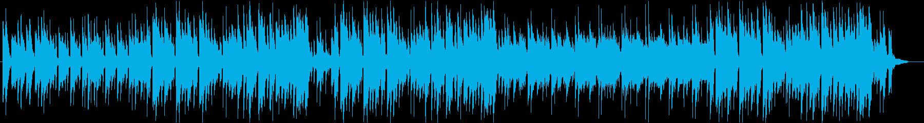 軽快でわくわくする可愛らしいポップスの再生済みの波形