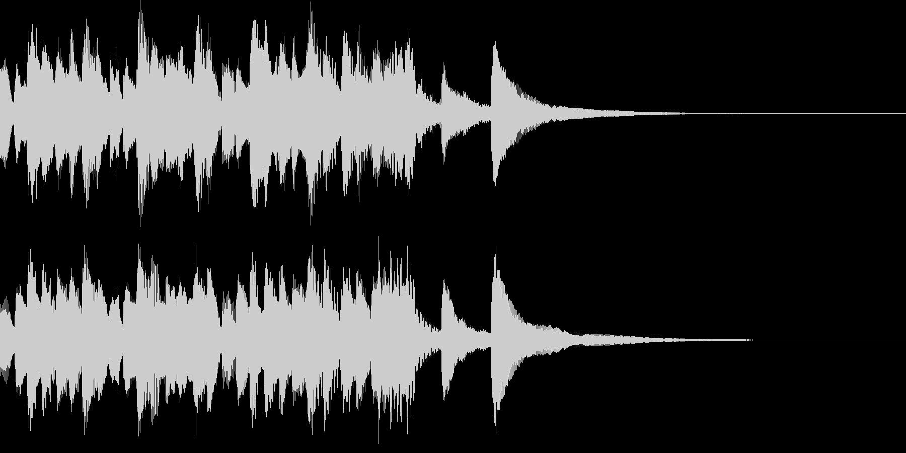 バッハ風のハープシコードの典雅なジングルの未再生の波形