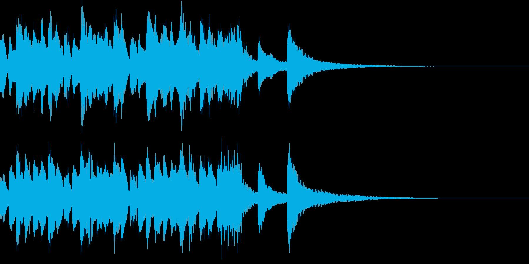 バッハ風のハープシコードの典雅なジングルの再生済みの波形