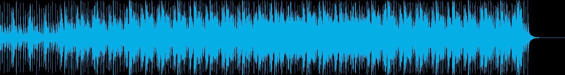 三味線と和太鼓のお祭りジングルの再生済みの波形