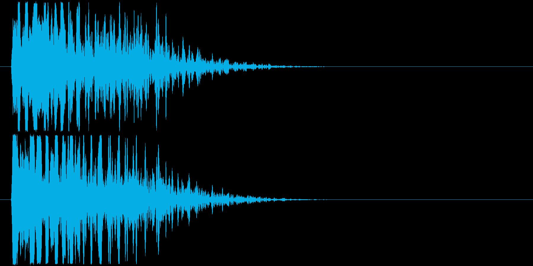透明感のある甲高い衝突音の再生済みの波形