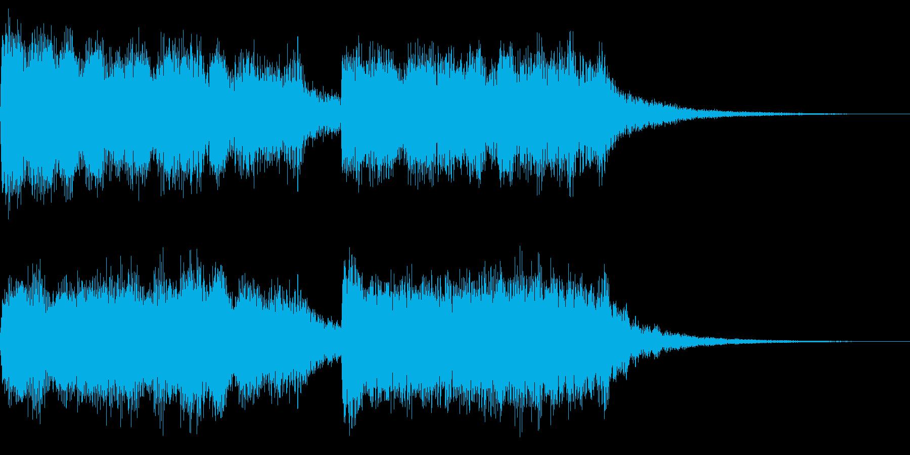 落下感のあるジングルの再生済みの波形