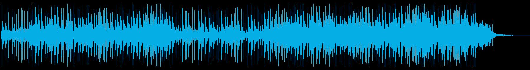 ピアノトリオの現代的なロックバラードの再生済みの波形