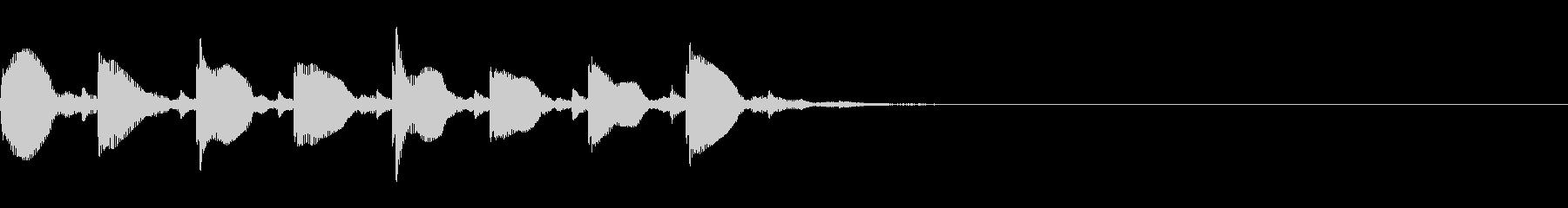 (話す、テキスト表示)短めA07の未再生の波形