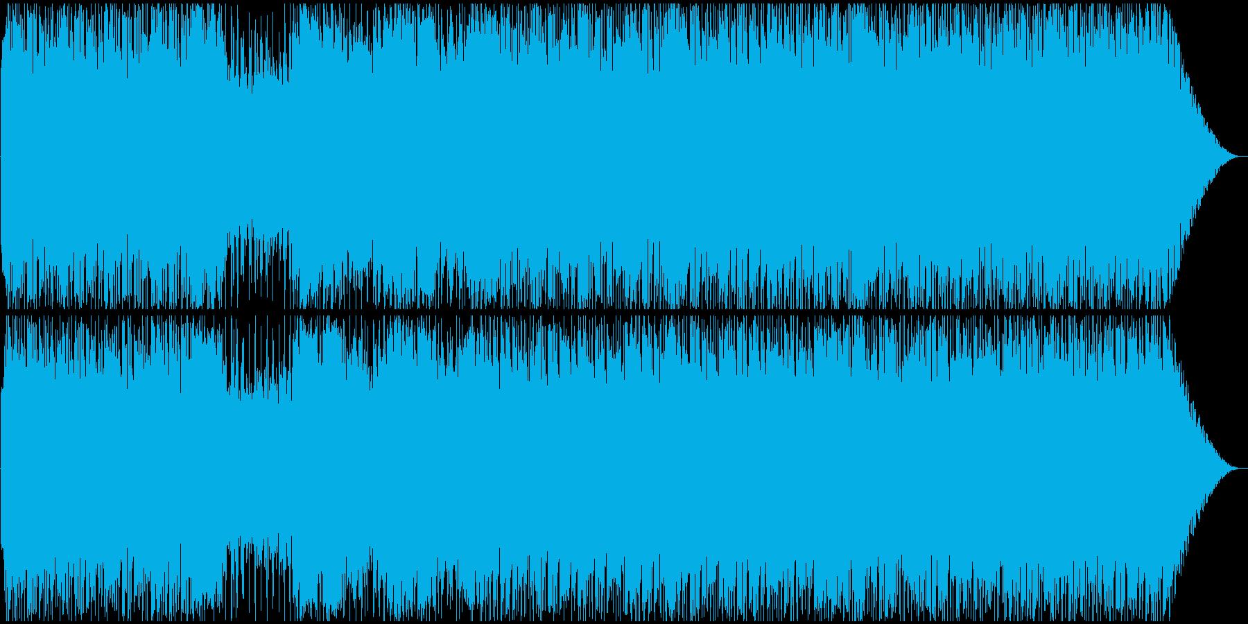 キャッチーなメロディーにカッコ良いリフの再生済みの波形