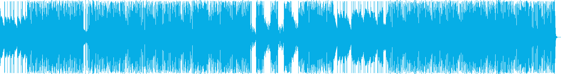 大人っぽい静けさと強いビートが絡むBGMの再生済みの波形