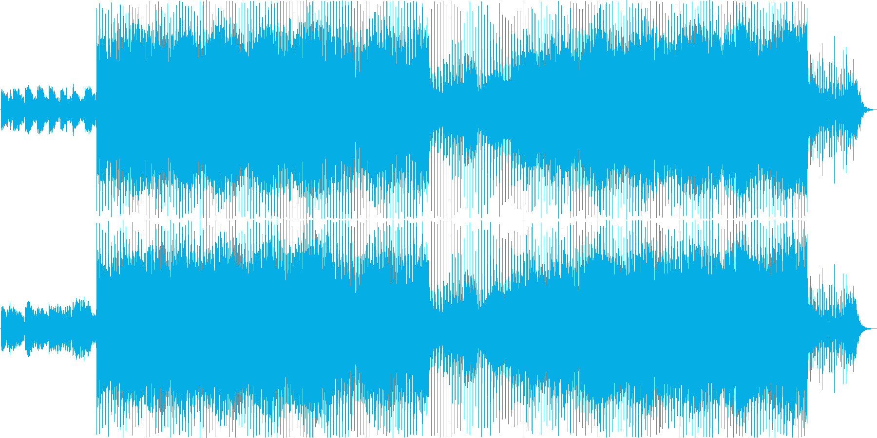 前進を感じさせるポジティブなロックの再生済みの波形