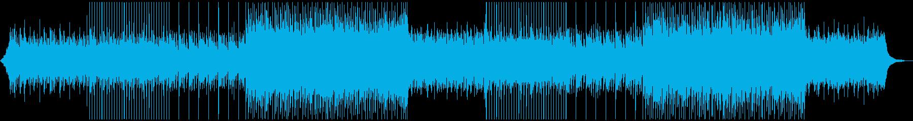 軽快なポップ メインのアコギなしの再生済みの波形