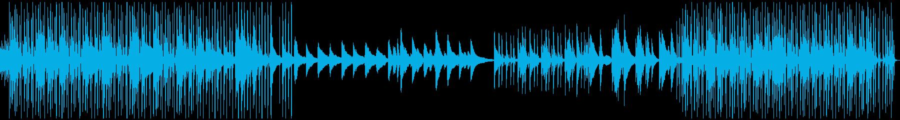 おしゃれなチル系ピアノBGMの再生済みの波形