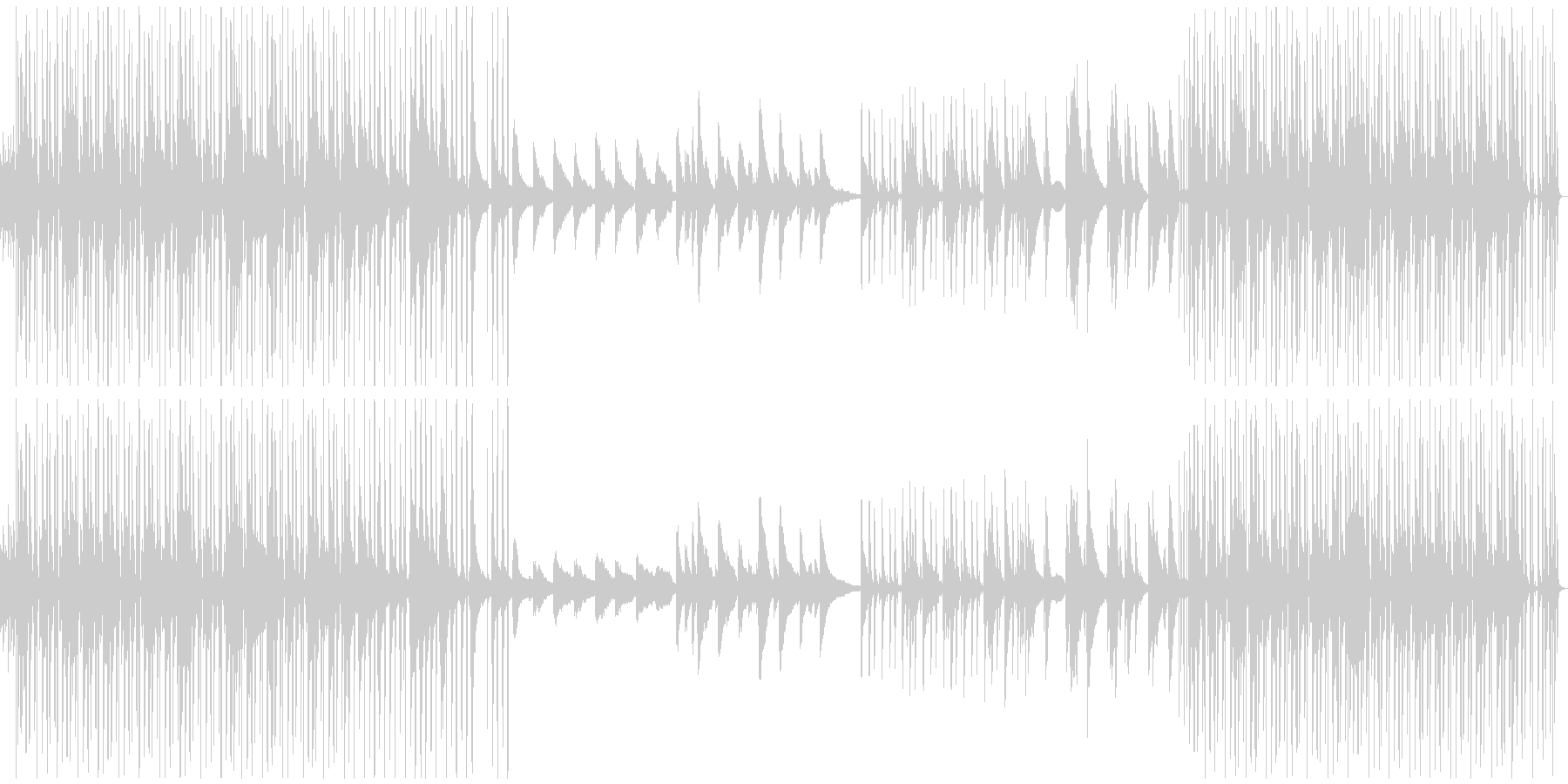 おしゃれなチル系ピアノBGMの未再生の波形