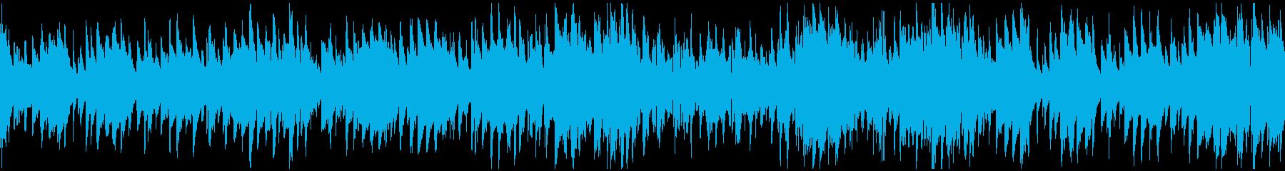 スパイ、ハードボイルド系ジャズ※ループ版の再生済みの波形