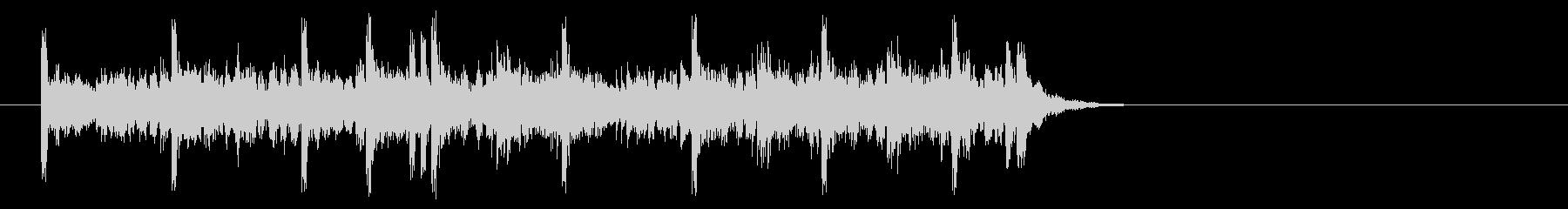 充実感溢れるポップ(イントロ)の未再生の波形
