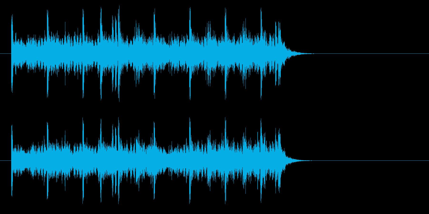 充実感溢れるポップ(イントロ)の再生済みの波形