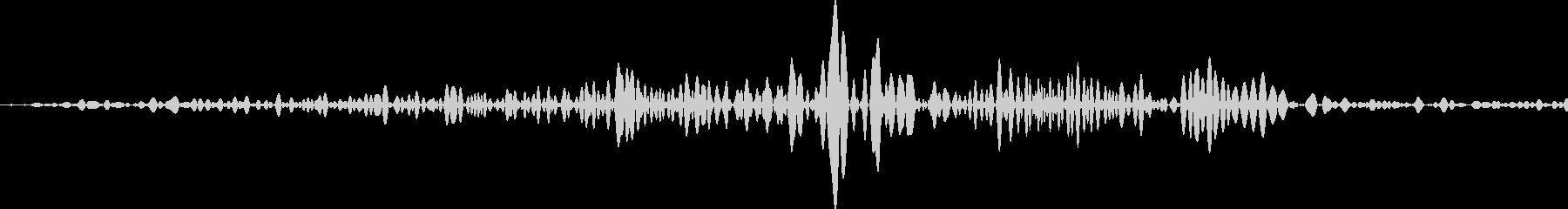 麻雀 捨てる音の未再生の波形