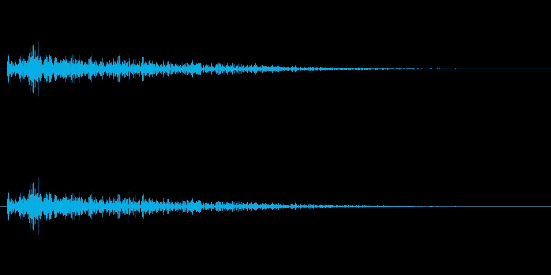 ドアの閉まる音(残響音)の再生済みの波形