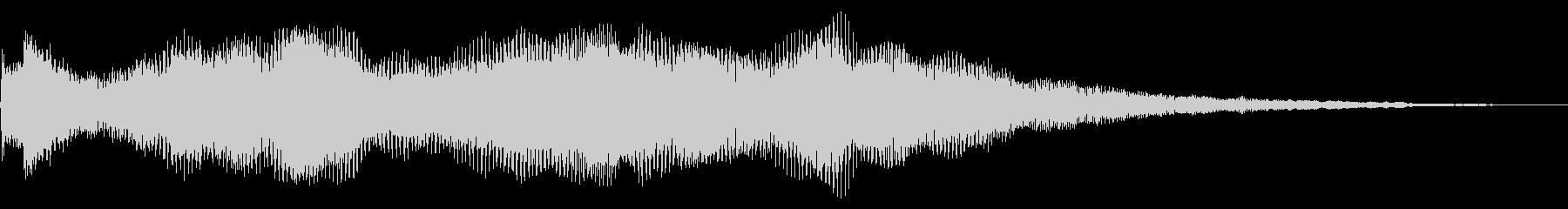 ブレークトランジションまたはロゴの後の未再生の波形